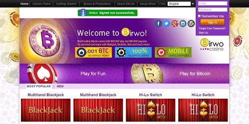 birwo casino welcome bonus