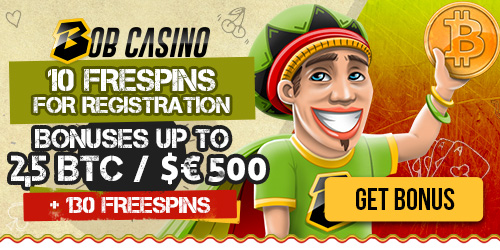 Bob Casino welcome bitcoin bonuses