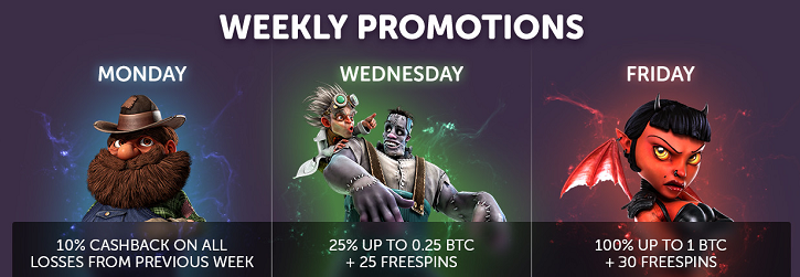 Casino Bitcoin.com weekly promotions