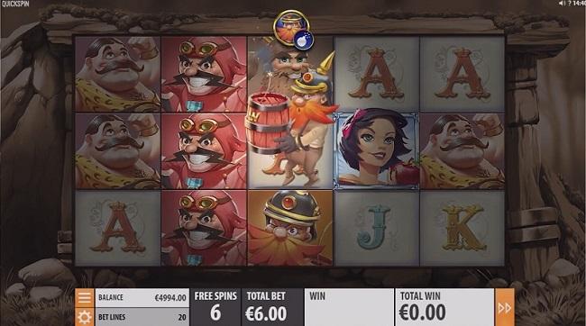 dwarfs gone wild slot screen