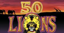 Fifty Lions slot logo