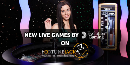 fortunejack casino evolution live games