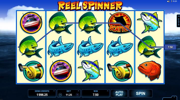 Reel Spinner slot screen