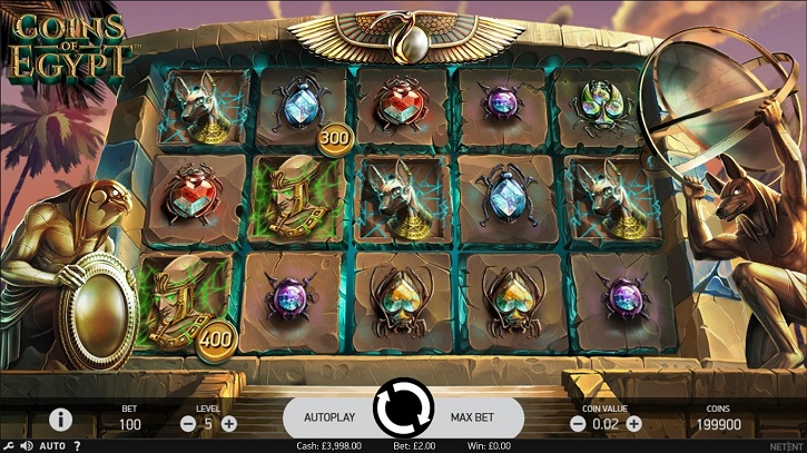 coins of egypt slot screen