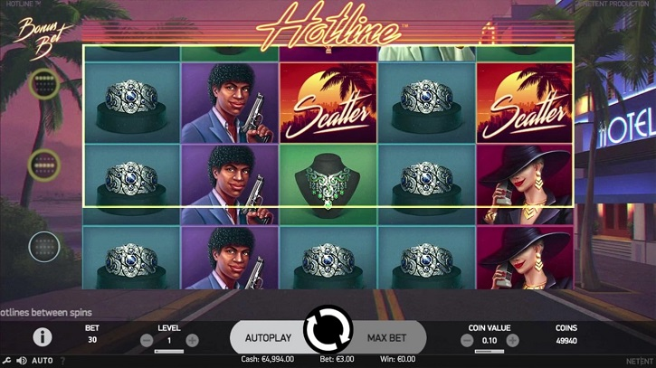 hotline slot screen