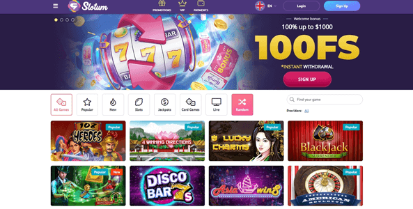 slotum casino website
