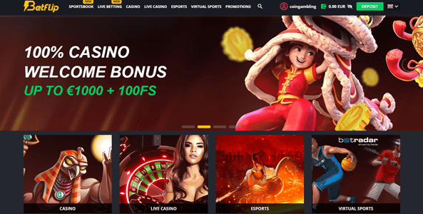 betflip website screen