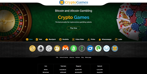 cryptogames.net website screen