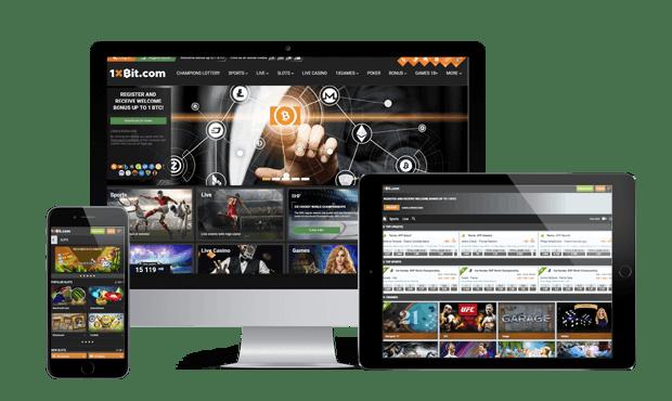 1xbit website screens