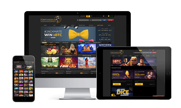 fortunejack casino website screens