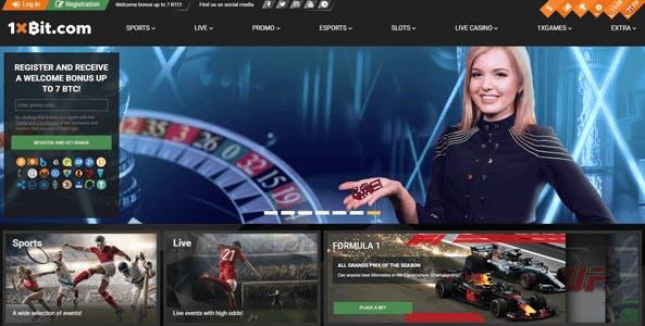 1xbit website screen