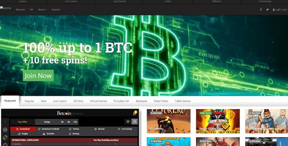 betcoin.ag website screen