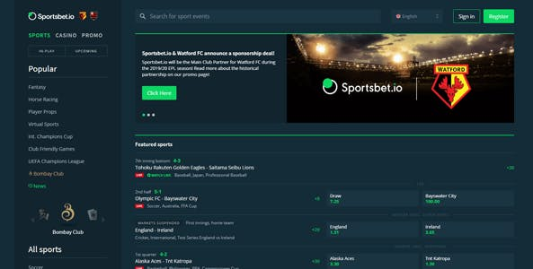 sportsbet.io website screen