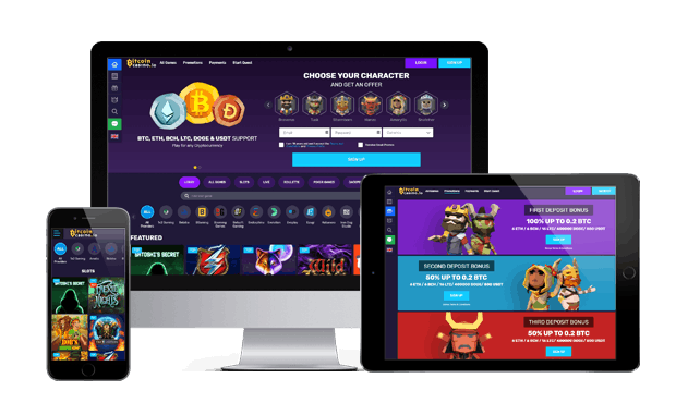 bitcoincasino.io website devices