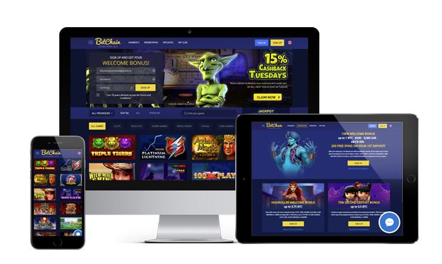 betchain casino website screens