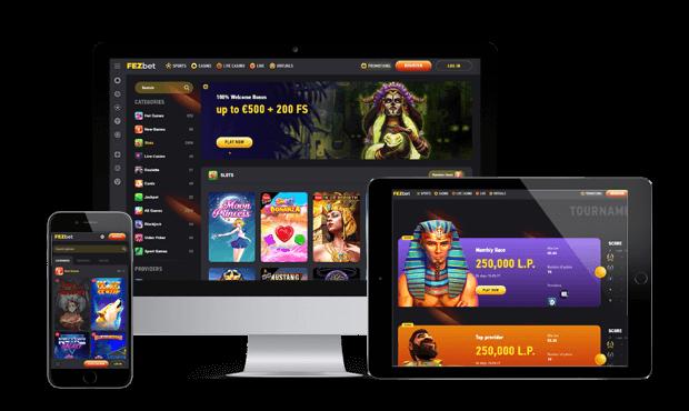 fezbet casino website screens