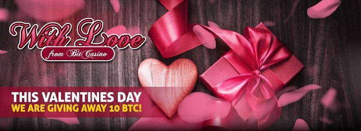 bitcasino valentines day btc raffle