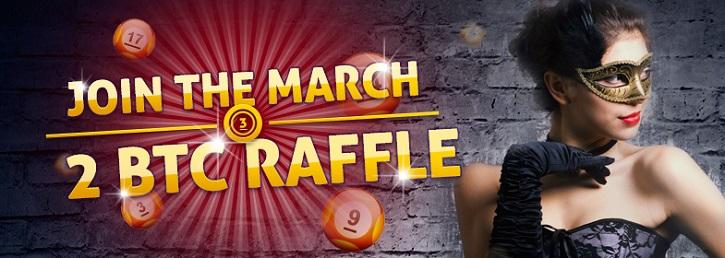 bitcasino march free btc raffle