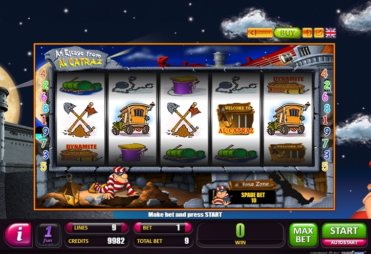 an escape from alcatraz slot review