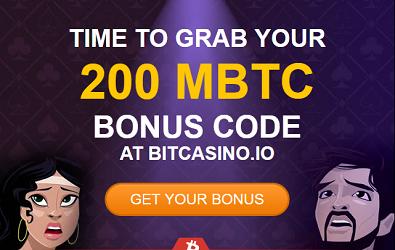 bitcasino.io 200 mbtc bonus