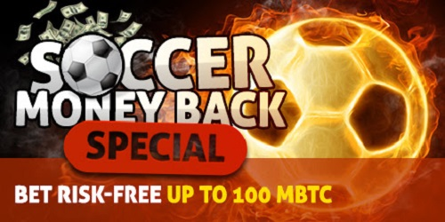 bitcasino sports soccer money back special