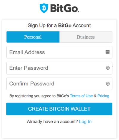 bitgo wallet registration form