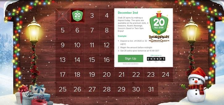 bitstarz casino christmas calendar schedule