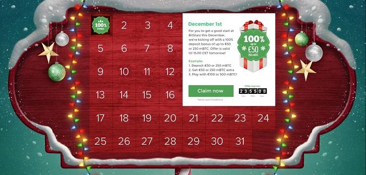 bitstarz casino christmas calendar
