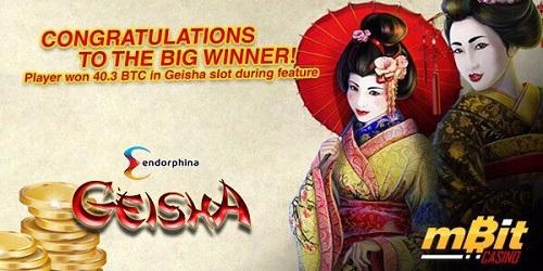mbit casino big winner geisha slot