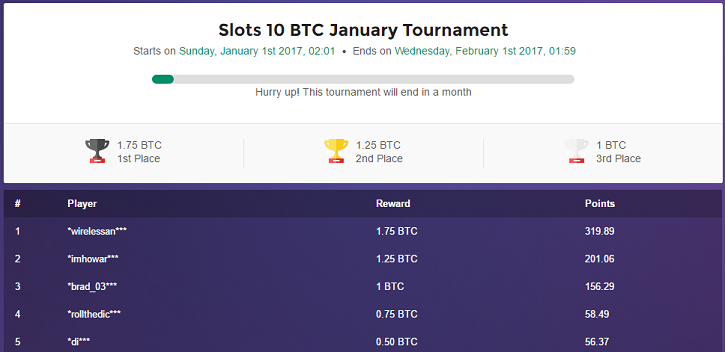 mbit casino january slots tournament