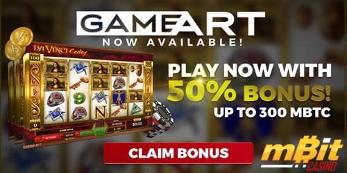 mbit casino gameart bonus