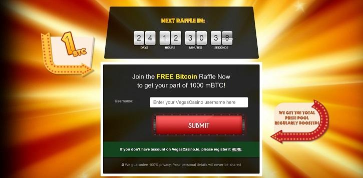 vegascasino bitcoin giveaway