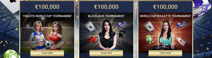 1xslots casino world cup tournaments