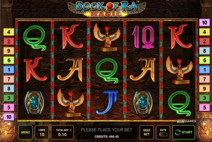 обзор слота book of ra magic