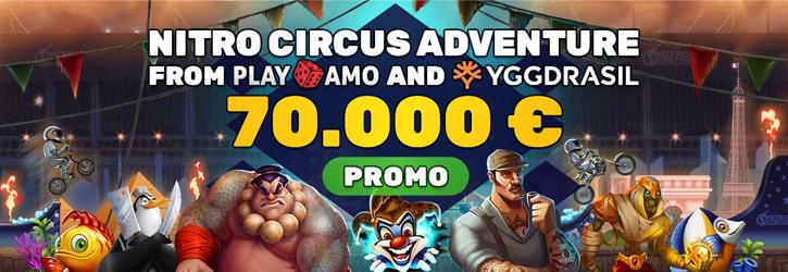 playamo casino yggdrasil nitro circus promo