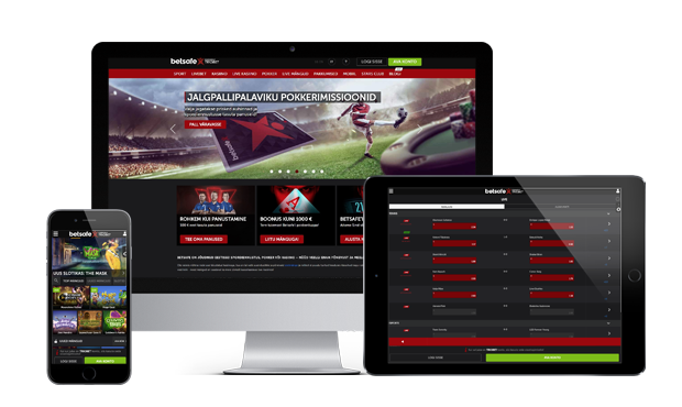 betsafe kasiino website screen