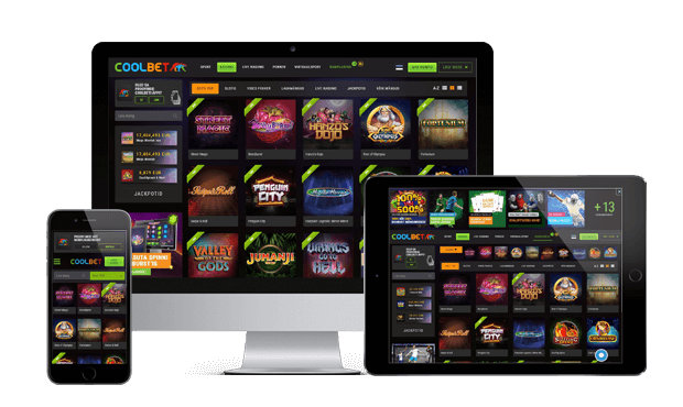 coolbet kasiino website screen