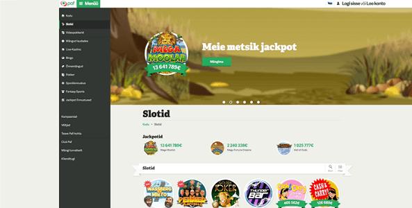 paf kasiino veebileht