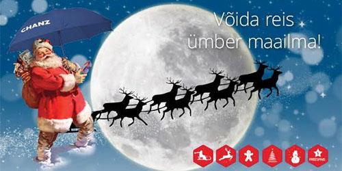 Chanzi jõuluhullus võida reis ümber maailma