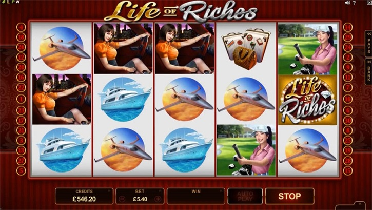 life of riches slot screen
