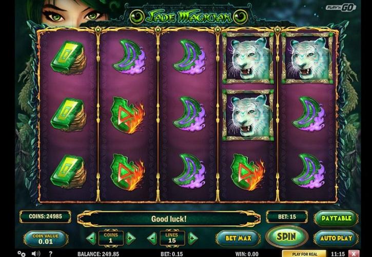 jade magician slot screen