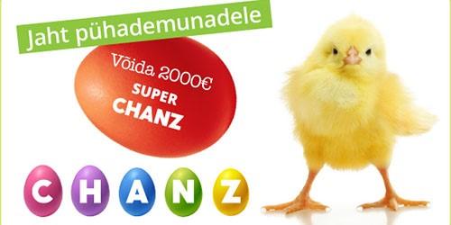 chanz kasiino easter egg promo