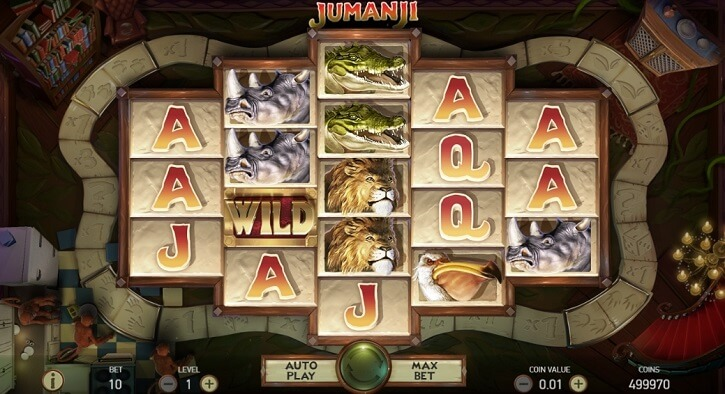 jumanji slot screen