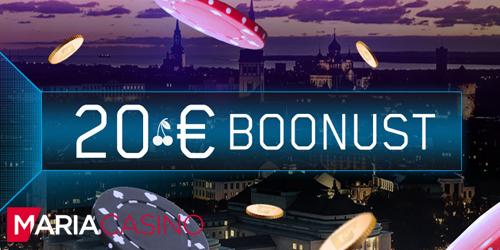 maria kasiino esmaspaeva boonus 20 eur