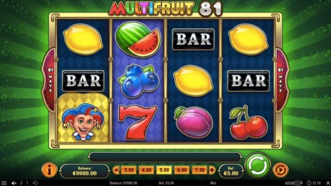multifruit 81 slot screen