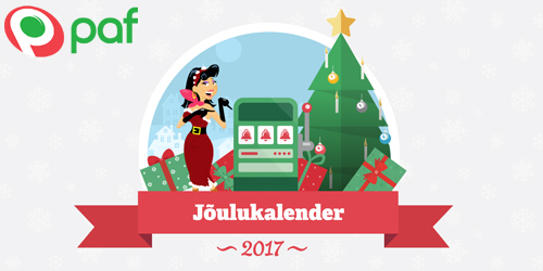 paf kasiino joulukalender 2017
