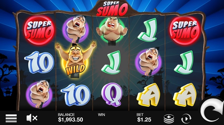 super sumo slot screen