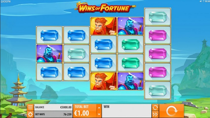 wins of fortune slot screen