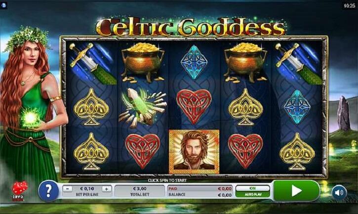 celtic goddess slot screen