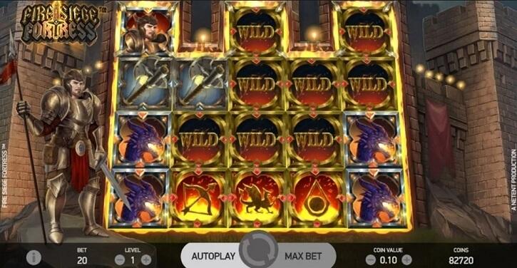fire siege fortress slot bonus